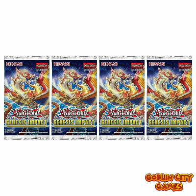 Yu-Gi-Oh! TCG | Genesis Impact | 4 Sealed Booster Packs | 1st Edition • 13.75£