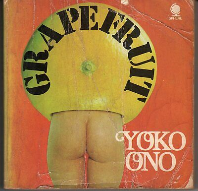 Yoko Ono .. Grapefruit Book .. Tatty But All In One Piece .. 1971 • 75£