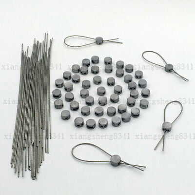 50 Tamper Evident Round Lead Seals Wire Electric Meter Uk Stock • 15.99£