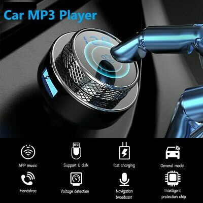 Wireless FM Transmitter Bluetooth 5.0 Car MP3 Player Handsfree Kit Radio Adapter • 14.49£