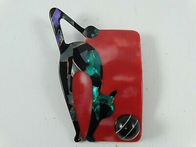 £50.34 • Buy Vintage LEA STEIN Paris Singed   Cat With Ball   Brooch Excellent Free Shipping
