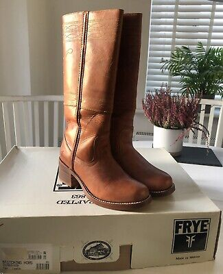 'Frye' Tan Leather Slip On Boots UK Size 6 • 1.30£