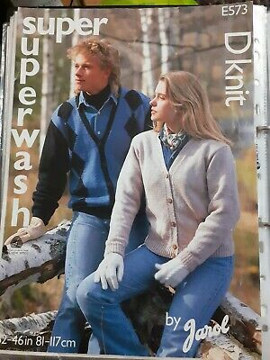 £1.50 • Buy Knitting Patterns - His And Hers Jacket In DK
