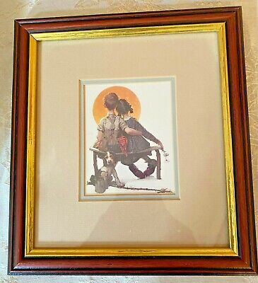 $ CDN315.17 • Buy Set Of 5 Norman Rockwell Prints CUSTOM FRAMED, DOUBLE  MATTED & SEALED Free Ship