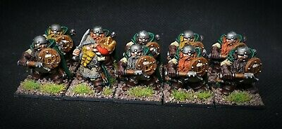 25mm Painted Metal Bugmans Rangers Dwarfs Games Workshop Citadel Pre Slotta X10 • 49.50£