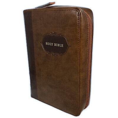 £39.53 • Buy My Organizer Bible KJV Large Print With Zippered Organizer Cover, Brown Indexed