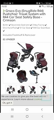 Graco Evo Travel System With Isofix Base • 150£