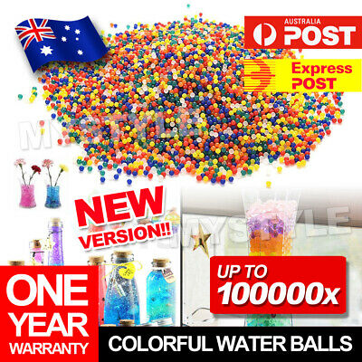 AU5.95 • Buy Orbeez Crystal Soil Water Balls Pearls Jelly Gel Beads Party Activity MultiColor