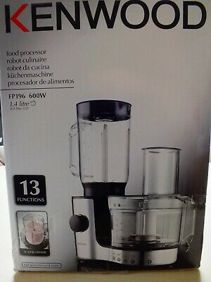 Kenwood FP196 Compact Food Processor/Kitchen Robot-Silver&Black [Energy Class:A] • 69.99£