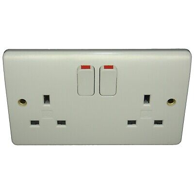 £69.99 • Buy Spy Bug In MK Double Switched Wall Socket AC Mains GSM Listening Sound Recorder