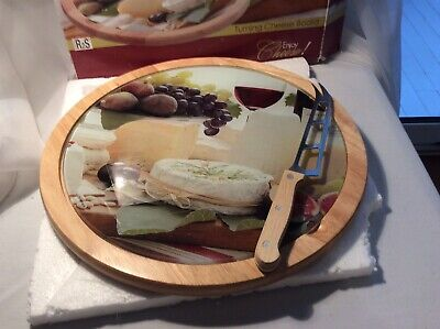 £9 • Buy Lazy Susan Revolving Wooden Cheese Board Decorative Glass Easy Life 12 Inch