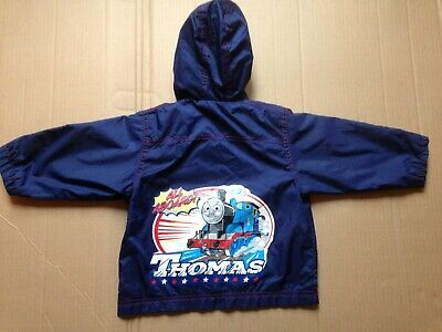 Thomas The Tank Engine Childs Hooded Water Proof Jacket Age 1 - 2 Years • 4£