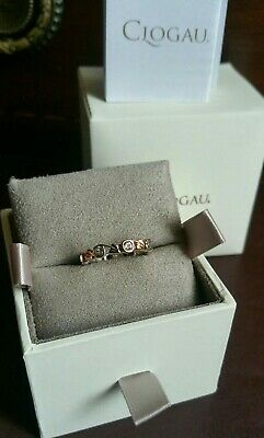 Certified Authentic Clogau Ring.9ct Rose Gold & Sterling Silver .M .new/boxed • 59.95£