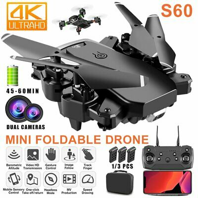 AU57.98 • Buy RC Drone 4K HD Wide Angle Real-Time Camera Wifi FPV Live Foldable Quadcopter