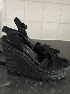 KENDALL + KYLIE Ankle Sandals Wedges Heels Black Size 6 New • 8.99£