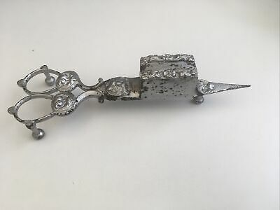 Victorian Silver Plated? Scissor Candle Snuffer As Found • 15£