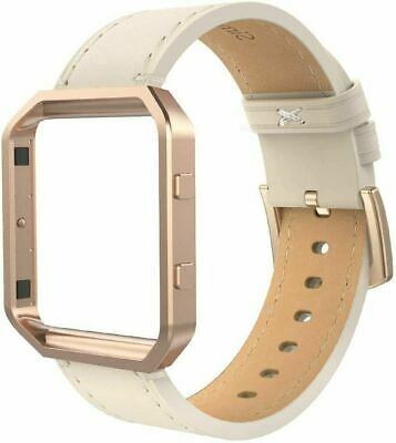 AU44.51 • Buy Leather Band For Fit Bit Blaze, Small Size With Frame, Leather -Rose Gold Metal