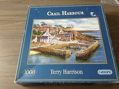 Gibsons - Crail Harbour By Terry Harrison - 1000 Piece Jigsaw • 1.50£