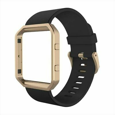 AU39.52 • Buy Band Compatible With Fit Bit Blaze, Silicone Wrist Strap With Metal Frame