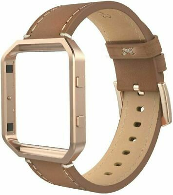 AU43.62 • Buy Leather Band For Fi Tbit Blaze, Large Size With Frame-Dark Brown+Rose Gold Frame