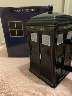 Police Box Shaped Mug With Lid - Dr Who / Tardis  - New In Box • 4£