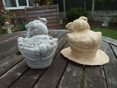 £29.99 • Buy  Pig In A Basket  Latex Mould To Make Garden Ornament Statue Concrete IN STOCK C