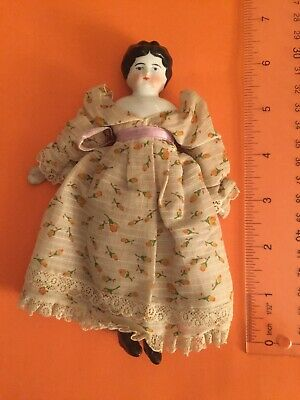 $ CDN75.77 • Buy  ANTIQUE Porcelain Dolls' House DOLL 6  1/2 Inches Beautiful Dress/petticoats