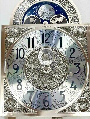 $180.77 • Buy Howard Miller Grandfather Clock Dial For Kieninger Movement Silver Color 280 X 2
