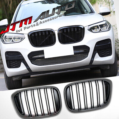 AU159 • Buy Gloss Black M Style Front Bumper Kidney Grill Grille For BMW X3 G01 & X4 G02