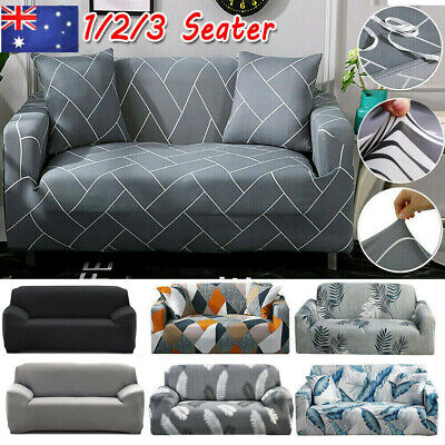 AU13.99 • Buy Sofa Covers 1/2/3/4 Seater Stretch Lounge Slipcover Protector Couch Washable AU