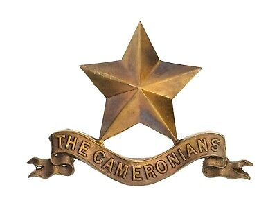 Cameron's Pipers Badge Brass Metal • 15£