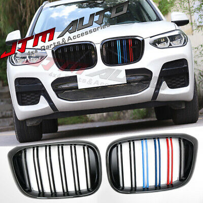 AU195 • Buy Gloss Black M Line Front Bumper Kidney Grill Grille For BMW X3 G01 & X4 G02