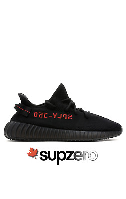 $ CDN585 • Buy Adidas Yeezy Boost 350 V2 Black Red Bred New 2020 Size 9 Canada 100% AUTHENTIC