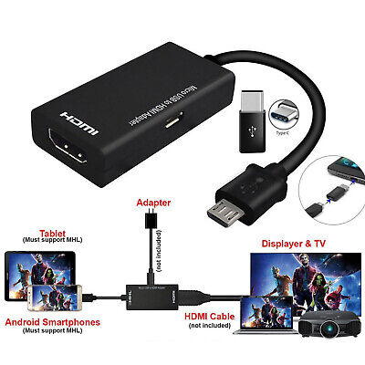 AU12.69 • Buy Universal MHL Micro USB To HDMI Cable 1080P HD TV Adapter For Android Phones