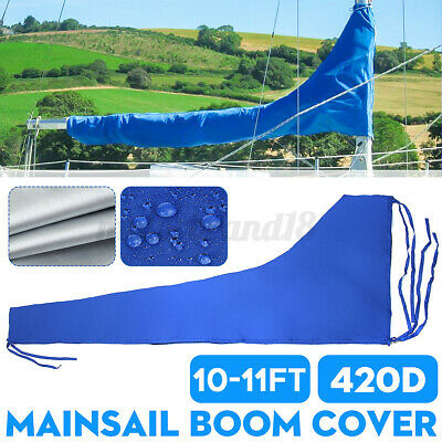 $48.63 • Buy 10-11ft 3.5m 420D Sail Cover-Mainsail Boom Cover Waterproof UV Protected Fabric