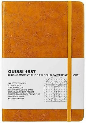 AU40.48 • Buy A5 Premium Classic Dotted Grid Bullet Notebook Journal (Vintage Yellow)