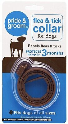 £2.69 • Buy Dog Flea & Tick Collar Flee Fits All Size Dog Last 3 Months Protection Stretch