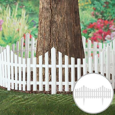 £9.95 • Buy 4Pcs Smart Garden White Picket Fence Path Border Lawn Plant Beds Picket Edging