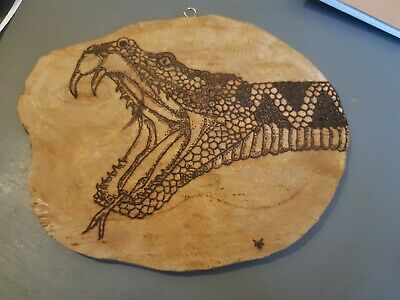 Pyrography Art, Craft, Oddities, Taxidermy, Wooden, • 25£