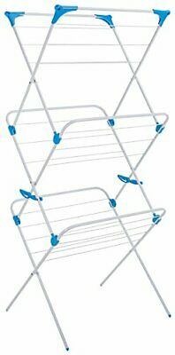 3 Tier Indoor Airer With 15 M Drying Space Metal White Colour White The Trio Co • 25.64£