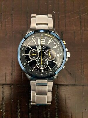 $ CDN184.99 • Buy Seiko Jimmie Johnson V175-0DM0 Solar Chronograph Watch