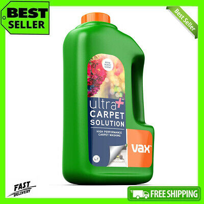 Vax Ultra Plus Carpet Cleaner Solution Shampoo Fluid Remove Stains Rose 1.5 L UK • 18.99£