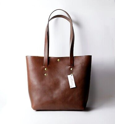 £109 • Buy Leather Tote Bag- Brown- Made From The Best Top Grain Vegetable Italian Leather