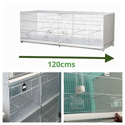 £110 • Buy 120cm 47  Plastic Double Breeding Cages With Divider - Budgie, Canary, Finch
