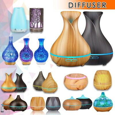 AU21.84 • Buy Aromatherapy Diffuser LED Aroma Essential Oil Ultrasonic Air Humidifier Mist AU