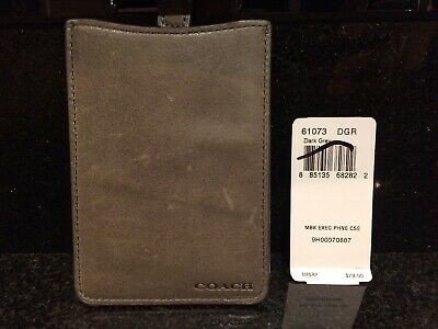 £35.63 • Buy RARE NEW OOP Coach IPod & Phone Case, Card Case & Wallet In Dark Grey Leather
