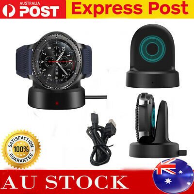 AU14.99 • Buy For Samsung Gear S3 Classic Frontier Watch Wireless Charging Dock Cradle Charger