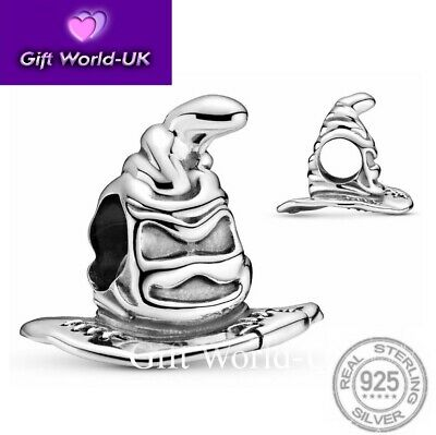 £9.99 • Buy 925 STERLING SILVER SORTING HAT HARRY POTTER CHARM With POUCH