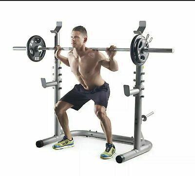 $ CDN228.35 • Buy Weider XRS 20 Olympic Squat Rack Adjustable Safety Spotters Uprights & Storage