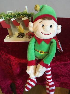 £5.95 • Buy 23cm Top To Toe Christmas Elf That Can Sit On A Shelf - Soft Toy New Free Post